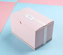 Wholesale Tin Packing Box - Pink Stripe Cake box, Candy Box, west point, packing product Package Biscuit tin box 30pcs lot