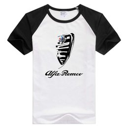 Wholesale T Shirt Modal - Wholesale-FOR Italy national treasures FOR alfa romeo cars t shirt men white Casual Breathable tee shirt Italian style tshirt GA462