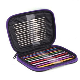 Canada 100set Practical 22 Pc Set Multi Stainless Steel Needles Crochet Hooks Set Knitting Needle Tools With Case Yarn Craft Kit SN2063 Offre