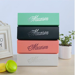 food stamps Promo Codes - Pink White Black and Green Dessert Macaron box 6 cavities colorful macarons pastry packaging boxes Gift High Quality