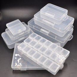 Dimensioni della scatola degli attrezzi online-Diverse dimensioni degli stili Scatola di immagazzinaggio di plastica chiudibile a chiave per gli attrezzi di riparazione Parti Accessori per gioielli di chip Ornamenti di capelli bionici