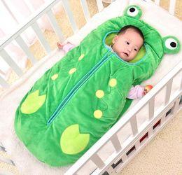 Bebê recém-nascido on-line-Ins Sacos De Dormir Sapo Do Bebê dos desenhos animados Sofá Cama Cobertores de Viagem Cobertores Recém-nascidos Saco de Dormir carrinho de Criança Saco de Dormir KKA4045