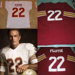 2019 sportbekleidungsnähte Vintage Sportswear # 22 Doug Flutie Boston College Jersey Herren Damen Jugend 100% genäht Custom College Retro Fußball Trikots Rot Weiß rabatt sportbekleidungsnähte
