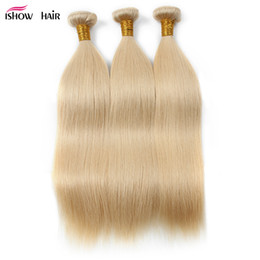 Wholesale 32 Inch Hair Extensions 613 - New Arrival Products 613 Blonde 3Bundles Peruvian Straight Human Hair Extension 10inch To 28inch Remy Brazilian Hair Weave Free Shipping