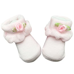 Wholesale Newborn Ankle Socks - Baby Girl Socks New Soft Newborn Baby Infant Boy Girl Cotton Socks 0~6 Month Flower Lace Ankle A