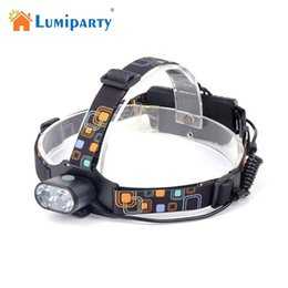 Wholesale ultra bright led light headlamp - Lumiparty 2 T6 Headlamp Ultra Bright 3 Modes Micro USB Charged Adjustable Head Light for Outdoor Activities Camping Fishing