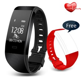 Wholesale oled watches - Bluetooth 4.0 S2 Smart Wristband IP67 Waterproof Smart Watch Band S2 Heart Rate Monitor Sport record OLED Smartband Bluetooth Bracelet