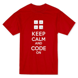 8b7e1623 T Shirt Designer O-Neck Short Sleeve Keep Calm And Code On Code Cotton  Shirts For Men
