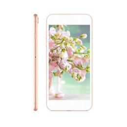 2019 telefono 5mp 5.5inch Goophone 8 plus Quad Core MTK6580 8plus 1G / 4G 5MP 3G WCDMA Telefono sbloccato show Falso 4G Lte con scatola sigillata telefono 5mp economici