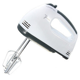 Wholesale Hand Mixers Electric - 180w Egg Beater Electric Mixer Eu Plug 7 Speeds Hand Mixer With 4 Different Type Stirrer Kitchen Tool Cake Baking