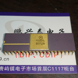 Wholesale Chip Speaker - MC6820L . vintage chips collection , Gold dual in-line 40 pin dip ceramic package . Electronic Component   CDIP-40, IC