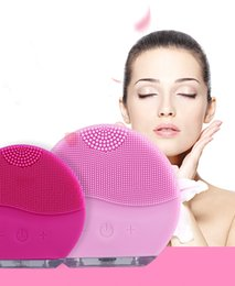 Wholesale Sonic Face Cleaning Brush - Facial Cleansing Brush Sonic Cleansing for Face Skin Cleaning Medical Level Silicone & Waterproof LUNA DHL freeshipping