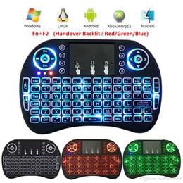 Lo nuevo Rii i8 Keyboard Wireless Backlight Air Mouse Remote con Touchpad de mano para TV CAJA X96 T95 M8S MXQ TV Box C120 teclados MX3 T2 desde fabricantes
