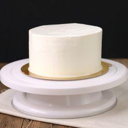 Gadget diy online-Diy Ispessimento Rotating Cake Stand Fisso Hand Made Strumento di cottura Cupcake Giradischi Supporto Cucina Gadget Accessori Supporto in plastica 15ym jj