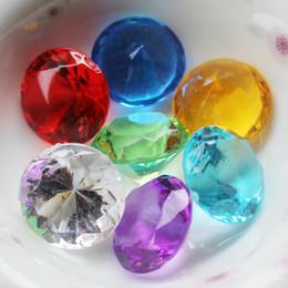 Vase perle füllstoffe online-100 stücke Klar Kristalle Acryl Diamanten Für Tischdekoration, Hochzeit, Brautparty, Vase Füllstoff Perlen Dekoration