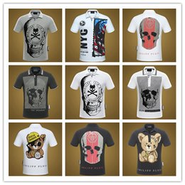 Wholesale design fashion men clothing - 2018 skull polo shirt quality summer fashion men tee design printing short sleeve polo t-shirts poloshirt clothes skull polo