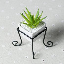 "Wholesale China Plant Pots - ccessories made in china 3.5"" White Tabletop Modern Square Ceramic Flower Plant Pot Garden Planting Pergola Tray Holder Cube Bonsai Home ..."