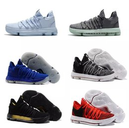 Wholesale Kd Kids - Top Quality Kids Basketball Shoes KD 10 PE Finals Game 1 Men Women Kevin Durant Basketball Shoes Sneakers