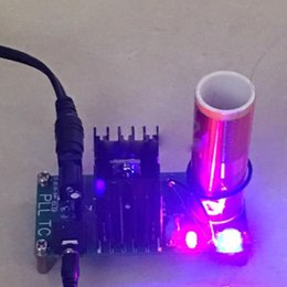 Wholesale Electronic Field - Mini Tesla Coil Plasma Speaker Kit Electronic Field Music 15W DIY Project 3.5mm Jack for Phone MP3 Computer Audio 15-24 V DC Input