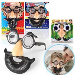 Trajes de barbas on-line-Ems máscara engraçada do dia das bruxas óculos de barba grande nariz + óculos + bigode traje partyjh óculos conjunto h166