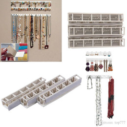 Wholesale Jewelry Displays For Earrings - Jewelry Display Necklace Earring Bracelet Organizer Display Stand Rack Holder Wall Hanger For Jewellery