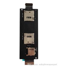 2019 quad sim card mobile original nuevo Sim Card Holder ranura para tarjeta Flex Cable para ASUS Zenfone 2 ze551ml Quad Core 5.5 pulgadas para teléfono móvil adaptadores de tarjetas SIM rebajas quad sim card mobile