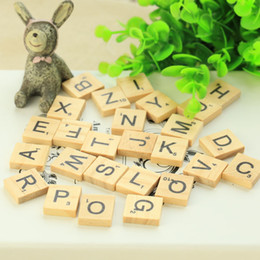 Wholesale Wood Photography Props - 26 Wooden English alphabet decoration photo photography equipment 2018 New HOT Photographic photography props wholesale Free shipping