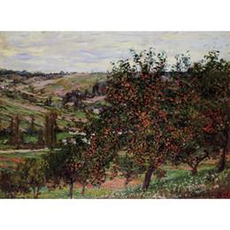 Canada Art moderne Pommiers près de Vetheuil Claude Monet Peintures à l'huile supplier apple paintings canvas Offre