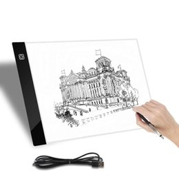 Wholesale Led Light Pads - Tracing Light Box A4 Ultra-thin USB Power LED Artcraft tracer Light Pad LightBox for Artists Drawing Sketching Animation Board