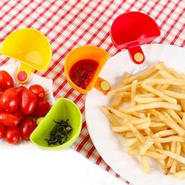 mojando platos Rebajas Clips de inmersión Platos pequeños Clip de especias Cuenco de cocina para salsa de tomate Sal vinagre de azúcar Sabor Especias 4 colores YW1479