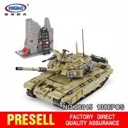 Wholesale real tanks - XingBao 06015 1386PcsThe Scorpio Tiger Tank Set DIY Real Military Series Building Blocks Bricks Toys Educational Gifts Model