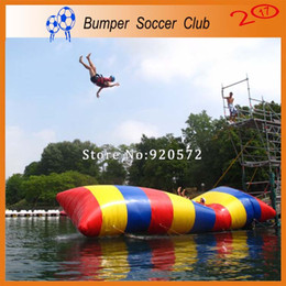 Wholesale jump sale - Free Shipping 5x2m Inflatable Water Blob Jump Pillow Water Blob Jumping Bag Inflatable Water Trampoline For Sale