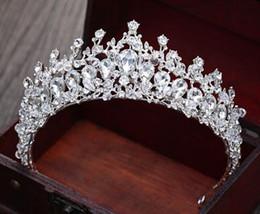 vestidos de casamento coreano doce Desconto Headwear nupcial, diamante espumante de luxo, grande coroa, acessórios de cabelo Korean Sweet Princess, acessórios de vestido de casamento.