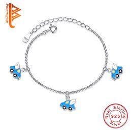 7e183a7121c2 BELAWANG Cartoon Collection 3 PCS Fly Car Charms Bracelet for Children Kids  Silver 925 Chain Bracelet Lovely Children s Day Gift