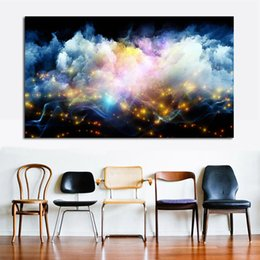 Wholesale Abstract Lines Modern Art Canvas - Wall Pictures For Living Room Abstract Colored Smoke Lines Canvas Art Home Decor Modern No Frame Oil Painting