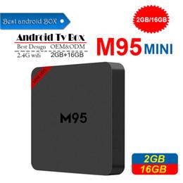 dvb s2 media player Desconto 2019 Nova M95 MINI Android 7.1 CAIXA de TV Allwinner H3 Quad Núcleo Rom 1 GB Ram 8 GB 2 GB 16 GB Set Top Box Android Media Player PK H96 MÁXIMO TX3 MINI