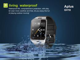 gv18 водонепроницаемые часы Скидка Gv18 смарт-часы водонепроницаемый Bluetooth Smartwatch наручные Android Montre Connecter NFC носимых устройств с SIM-картой