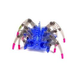 Arañas robot online-Niños Araña Eléctrica Robot Juguete DIY Educativo Desarrollo de Inteligencia Ensambla Niños Puzzle Juguetes de Acción Artículos de Novedad CCA10658 50 unids