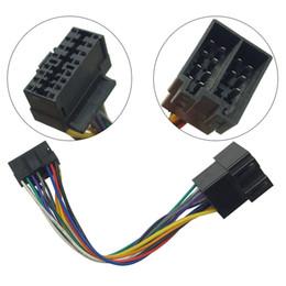 Conectores de radio online-Adaptador de mazo de cables de radio estéreo para auto para el conector de 16 pines de Sony en la radio al conector ISO 10487 en el auto n. ° 5675