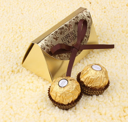 2019 papier de velours en gros Faveurs et cadeaux de mariage Boîte à bonbons en papier pour le baby-shower Ferrero Rocher Boîtes Faveurs en mariage Cadeaux cadeaux Sacs