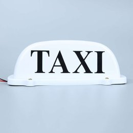 Wholesale Roof Signs - China light car roof Suppliers DC 12V Cab Sign Topper Roof Car White Taxi Top Lamp Light with Magnetic
