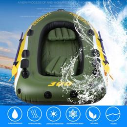Equipo del barco de goma de 2-3 personas Pesca inflable del PVC Pesca del rescate Chaqueta salvavidas del barco Bomba eléctrica bidireccional Bomba de aire Paletas desde fabricantes