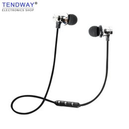 Wholesale Running Music Free - Tendway Sports Bluetooth Earphone Magnetic Running In-ear Wireless Earphones Fashion Stereo Music headset Hands Free with Mic