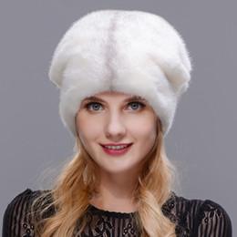 cappelli di visone naturali Sconti Cappello di pelliccia delle donne di  inverno 2018 Inverno naturale bordo dff24d46a5b3