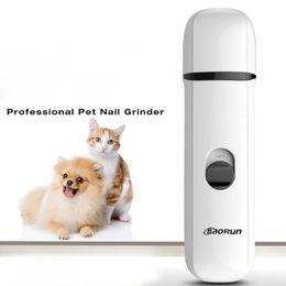 Chiodo smerigliatrice pet ultra silenzioso per cani ricaricabile elettrica ricaricabile usb cane chiodo trimmer tagliaunghie per piccoli cani di taglia media a da