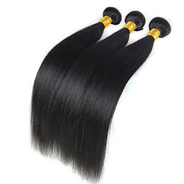"""6a cheveux vierges non transformés recto peru en Ligne-Des cheveux humains droits péruviens tissent 10-30 """"cheveux péruviens vierges de couleur noire 6a cheveux remy non transformés"""