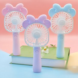 Wholesale mini rechargeable fans - Mini Folding Portable Fan Cartoon Cat USB Rechargeable Foldable Handheld Summer Air Cooler Cooling Fan Portable Fan Kids Toys OOA4919