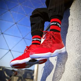 Wholesale Peach Jams - New Colors 2018 11 Basketball Chicago Gym Red Midnight Navy Win Like 82 Space Jam Mens Designer Shoes Men Running Trainers Women Sneakers