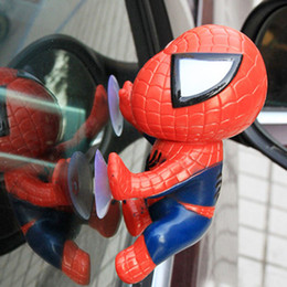 auto suction 2018 - 1pc Creative Suction Cup Car Toys for Climbing Spider Man Doll Dashboard Window for Car Ornament Auto Interior Accessories