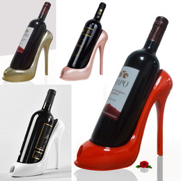 Wholesale High Heel Bottle - High Heels Wine Rack Silicone Wine Bottle Holder Rack Shelf Home Party Restaurant Living Room Dining Table Decorations WX9-246